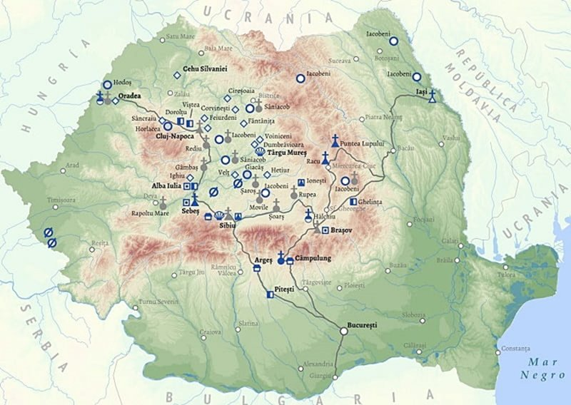 Rumanien Geografie Ubersichtskarte Lander Rumaenien Goruma
